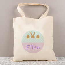 Easter Chocolate Personalized Tote For Kids