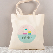 Easter Bunny Chick Personalized Tote For Kids