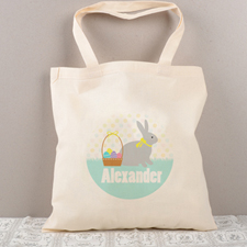 Easter Bunny Egg Personalized Tote For Kids
