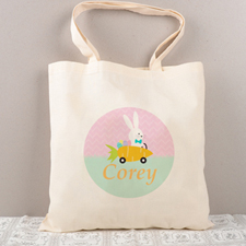 Easter Bunny Carrot Personalized Tote For Kids