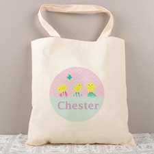 Easter Chick Egg Personalized Tote For Kids