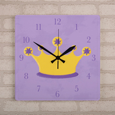 Princess Personalized Wall Clock, Square 10.75
