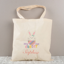 My First Easter Personalized Tote For Girls