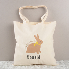 Happy Easter Personalized Cotton Tote