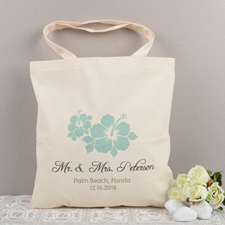 Beach Wedding Personalized Cotton Tote Bag