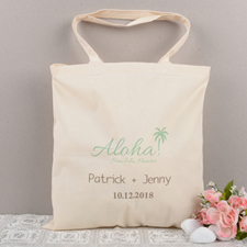 Tropical Wedding Personalized Cotton Tote Bag