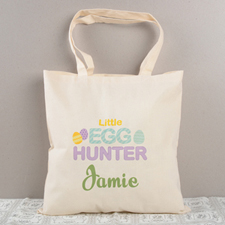 Little Egg Hunter Personalized Easter Tote Bag