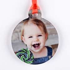 Personalized Photo Mini Ornament Holiday Set Of 6 (Custom Front)