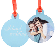 Personalized Wedding Photo Mini Ornament Holiday Set Of 6 (Custom Front And Back)