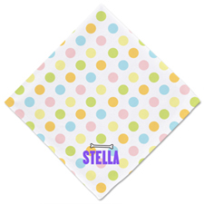 Colorful Dot Personalized Dog Name Bandanas, 20 Inch