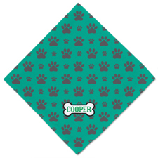 Bone And Paw Print Personalized Name Dog Bandanas, 20 Inch