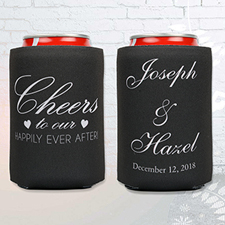 Happily Ever After Personalized Wedding Can Cooler