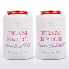 Team Bride Personalized Can Cooler For Bridesmaid
