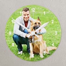 Photo Gallery Frameless Wall Clock Custom Printed