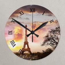 Photo Gallery Roman Face Photo Acrylic Clock, Black Clock Hands Custom Printed