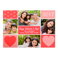 Fun Personalized Photo Valentine's Card, 5x7 Flat
