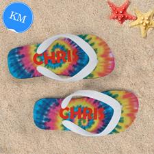 Dye Personalized Flip Flops, Kids Medium