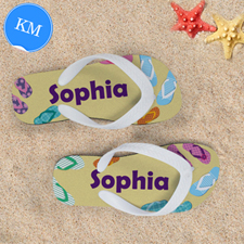 Flip Flop Design Personalized Flip Flops, Kids Medium