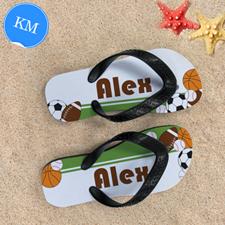Sport Personalized Flip Flops For Kids, Medium