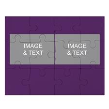 2 Photo Collage Puzzle, Purple