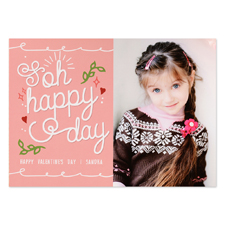 Oh Happy Valentine Personalized Photo Card