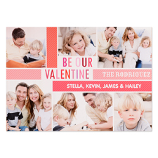 Be Our Valentine Personalized Photo Card