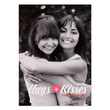 Hugs + Kisses Personalized Valentine Photo Card