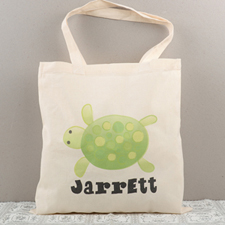 Turtle Personalized Cotton Tote