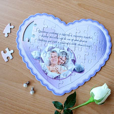 My Girl Personalized Heart Shape Puzzle