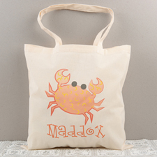 Crab Personalized Cotton Tote Bag