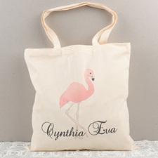 Flamingo Personalized Cotton Tote