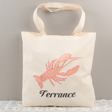 Lobster Personalized Cotton Tote Bag