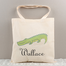 Crocodile Personalized Cotton Tote