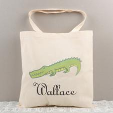 Crocodile Personalized Cotton Tote Bag