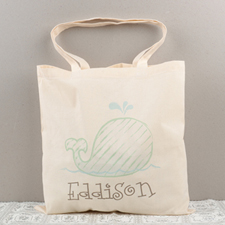 Whale Personalized Cotton Tote