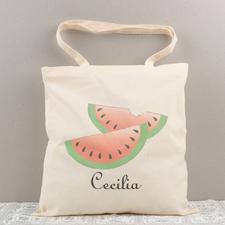 Melon Personalized Cotton Tote Bag