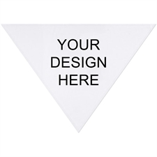 Custom Imprint Full Color Triangle Doggie Bandana, Large 31