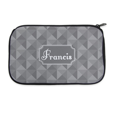 3D Grid Personalized Neoprene Cosmetic Bag