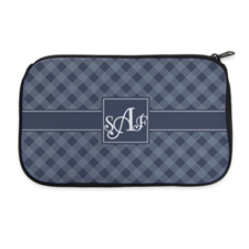 Gingham Personalized Neoprene Cosmetic Bag