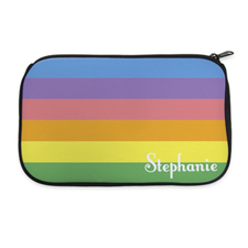 Color Stripe Personalized Neoprene Cosmetic Bag