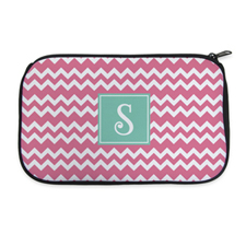 Pink Chevron Personalized Neoprene Cosmetic Bag