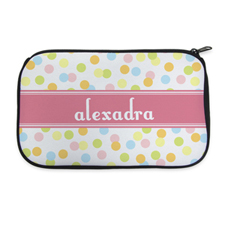 Multi Dot Personalized Neoprene Cosmetic Bag