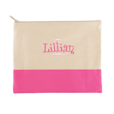 Name&Initial #6 Personalized Hot Pink Make Up Bag