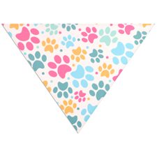 All Over Print Triangle Doggie Bandana, Large 31