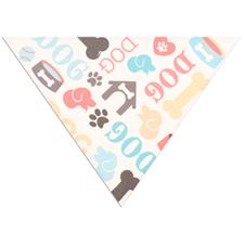 All Over Print Triangle Doggie Bandana, Small 20