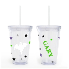 Ghost Personalized Halloween Acrylic Double Wall Tumbler