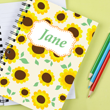 Sunflower Personalized Notebook