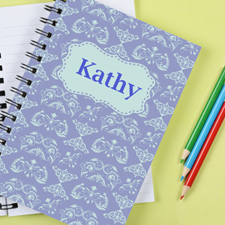 Damask Personalized Notebook