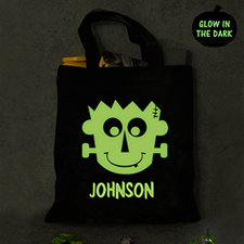 Frankenstein Personalized Glow In The Dark Halloween Tote Treat Bag