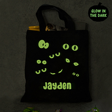 Personalized Halloween Glow In The Dark Bag